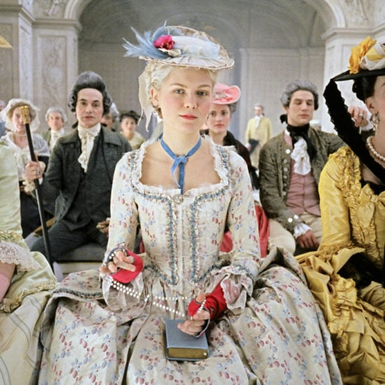 Kirsten Dunst as Marie Antoinette in the movie version