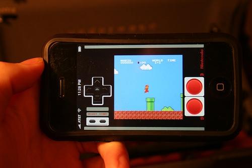Mario on iPhone