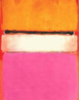 Mark Rothko White Center (Yellow, Pink and Lavender on Rose)