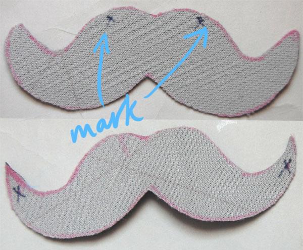 Marking DIY Moustache Necklace