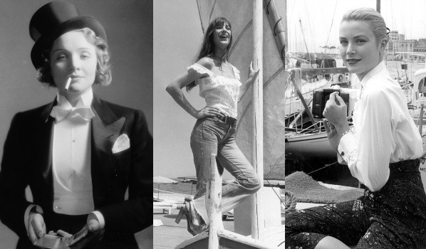 Marlene Dietrich, Jane Birkin, Grace Kelly