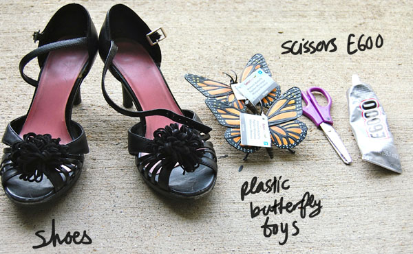 Materials DIY Butterfly Heels