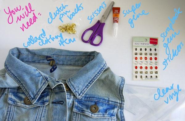 Materials DIY Collar Tips