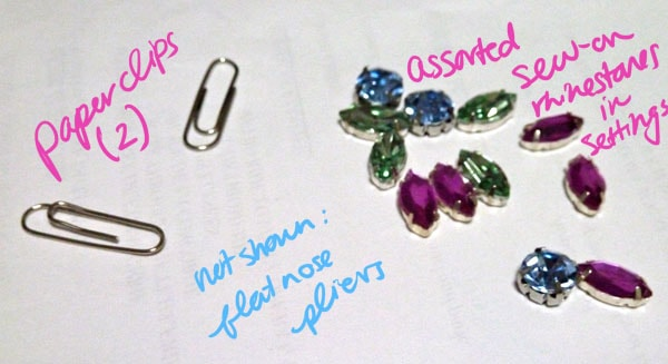 Materials diy cufflinks