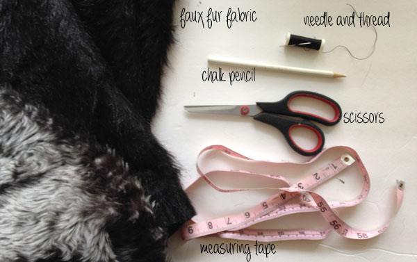 Materials diy faux fur vest