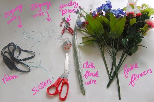 Materials DIY Floral Crown
