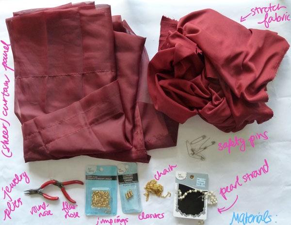 Materials DIY Goddess Costume