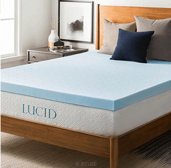 blue memory foam mattress topper