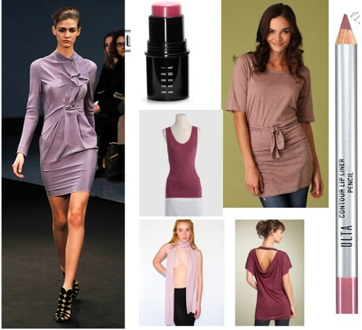 Mauve clothing and accessories