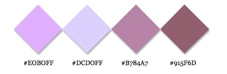 Different shades of mauve