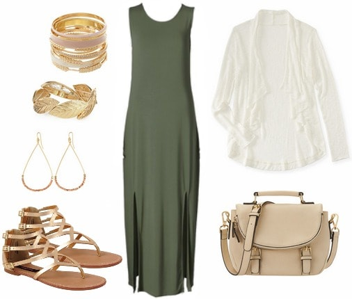Maxi dress back to school outfit