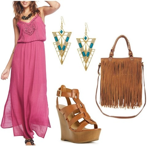 Maxi dress summer outfit under $100