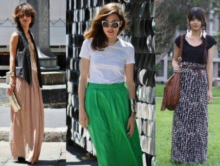 Maxi skirts street style