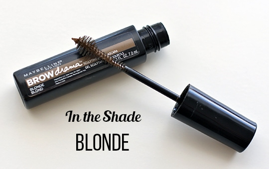 Maybelline brow drama blonde