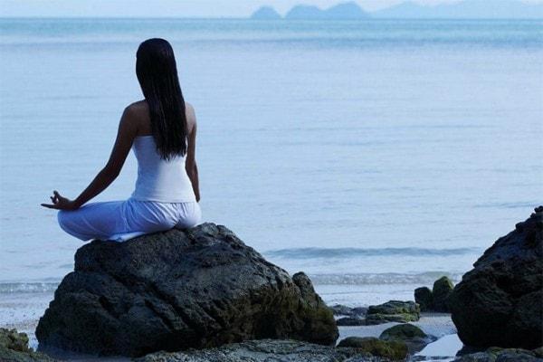 Meditating alone