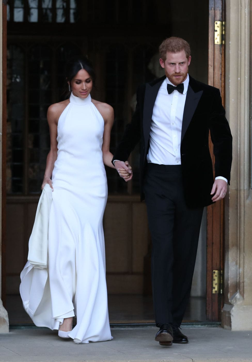 Meghan Markle in her wedding reception dress by Stella McCartney