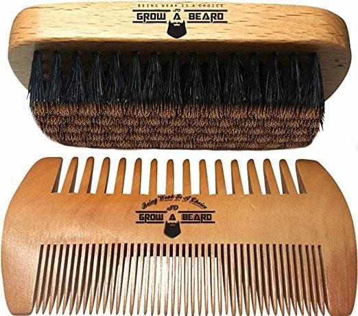 Men's Brush and Comb Beard Set
