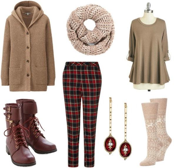 Menswear inspired winter look
