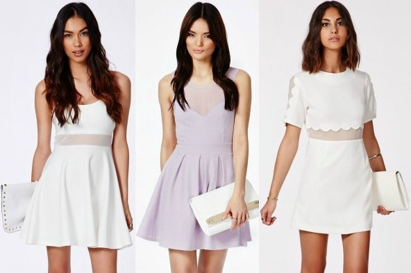 Mesh panel dresses from missguided
