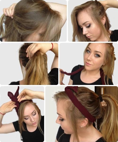 Messy ponytail tutorial - easy finals week hairstyles