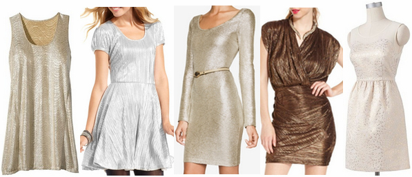 Metallic dresses under $50