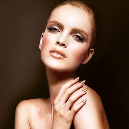 Metallic lips fall 2013 beauty trend