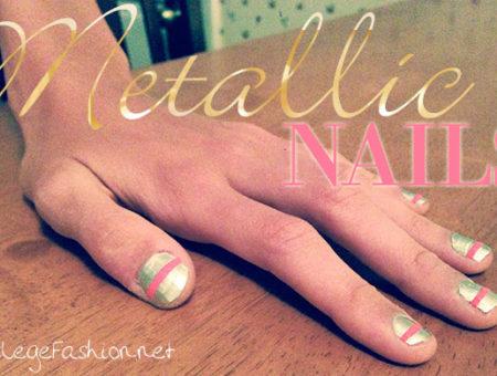 Metallic nails tutorial with Sally Hansen