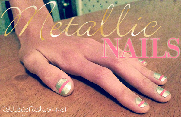 Metallic nails tutorial with Sally Hansen