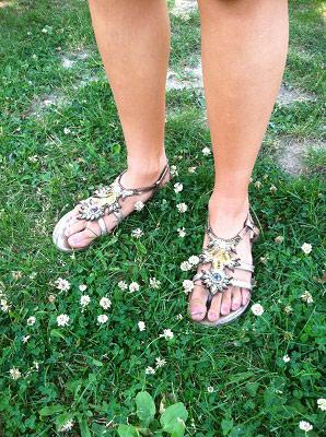 Summer staple: metallic gladiator sandals