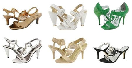 Metallic, White & Brightly-Colored Gladiator Heels