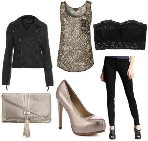 Metallic Pumps Sample Outfit