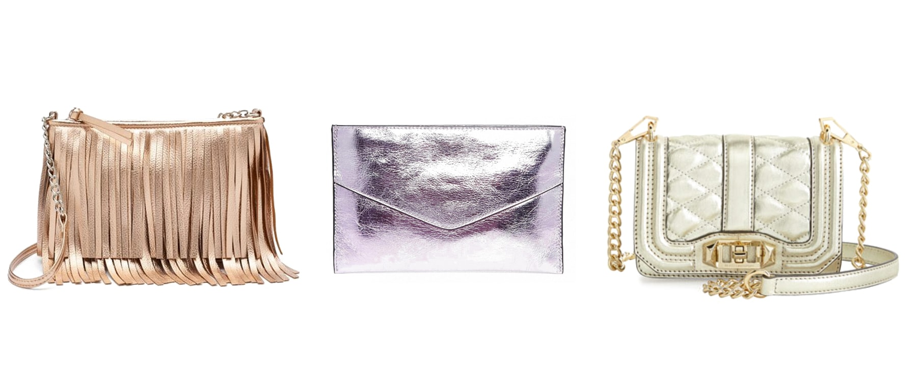 metallic bags purses clutches crossbody
