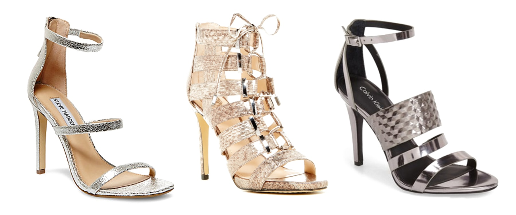 metallic shoes heels sandals