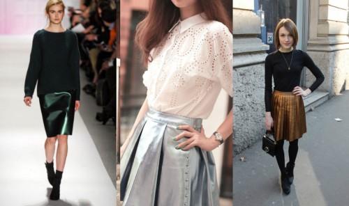 Metallic Skirt Samples