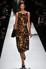Michael Kors dress - winter florals for fall 2008