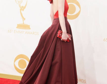 Michelle Dockery in Prada at the 2013 Emmys