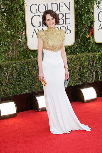 Michelle Dockery at the 2013 golden globe awards