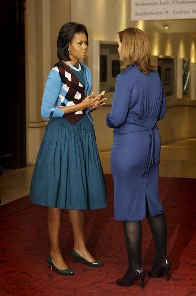 Michelle Obama in Kitten Heels