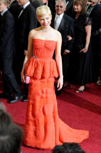 Michelle Williams in Louis Vuitton at the 2012 Academy Awards