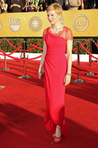 Michelle Williams in Valentino at the 2012 Screen Actor's Guild Awards