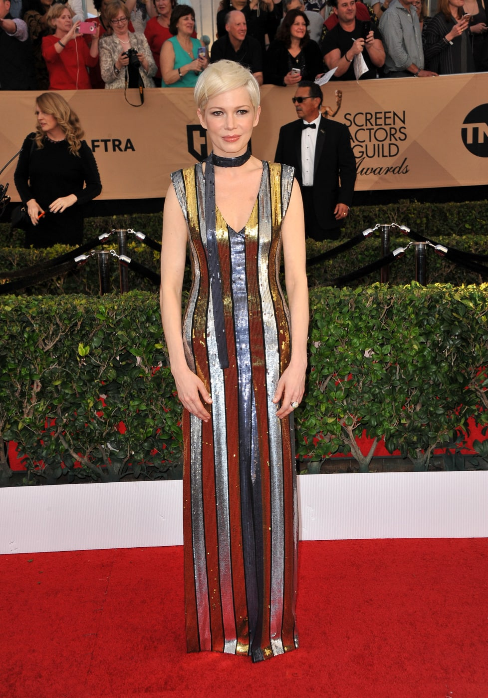Michelle Williams in Louis Vuitton at the 2017 SAG Awards