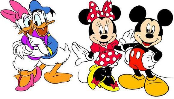 Mickey Minnie Daisy Donald