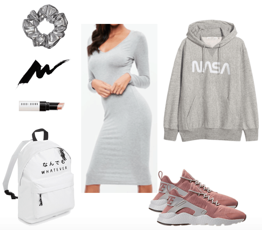 Midi dress casual outfit.