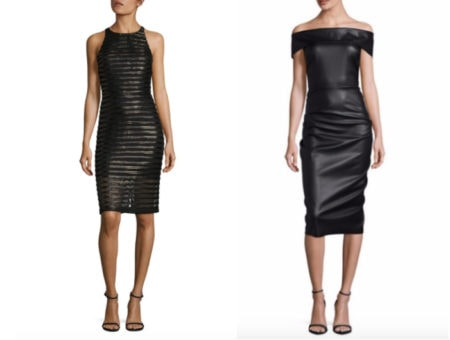Leather midi dress fashion trend