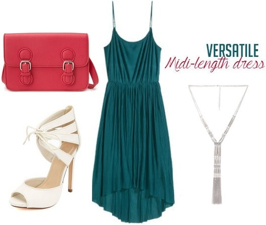 Midi length dress outfit
