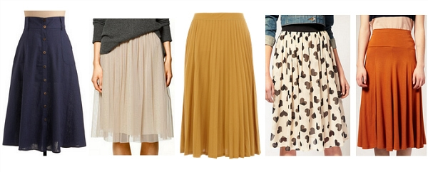 Midi skirts fall 2011 must-have