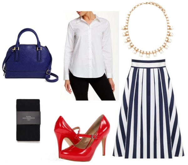 how to style a midi skirt for work