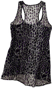 Miley Cyrus and Max Azria leopard print tank