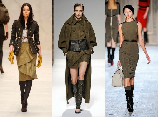 military trend on the fall 2012 runway