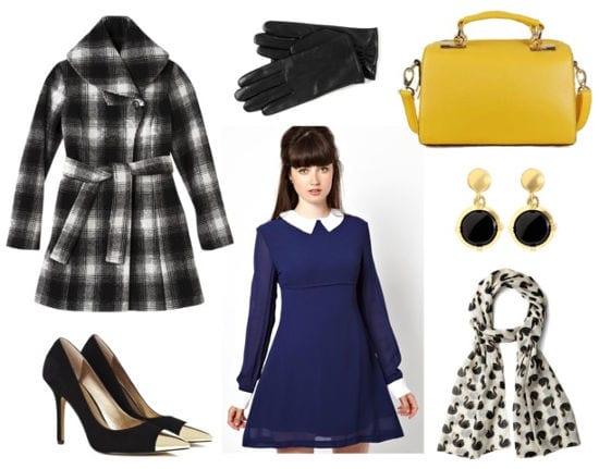 Mindy project blue collar dress